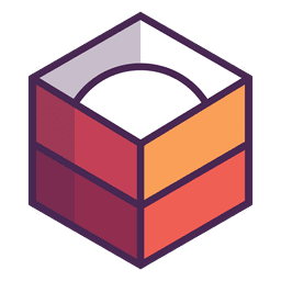 Caja logo redondo