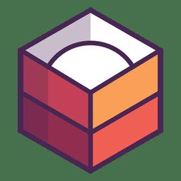 Logotipo da caixa rodada