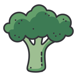 Broccoli color icon