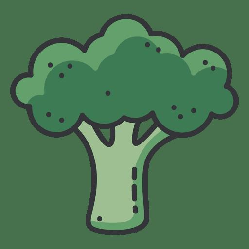 Ícone de cor de brócolis baixar png svg transparente