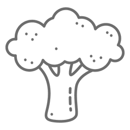 Broccoli stroke icon