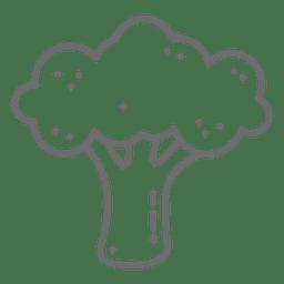 Icono de trazo de brócoli