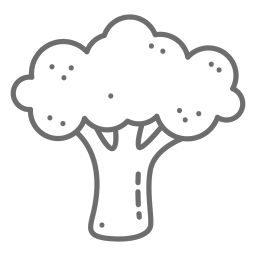 Broccoli stroke icon Transparent PNG