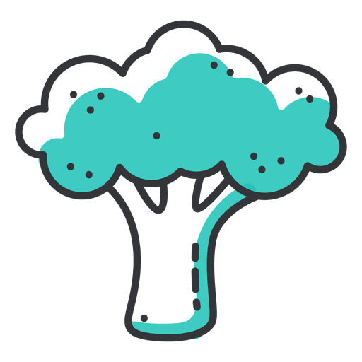 Broccoli stroke icon with shadow Transparent PNG