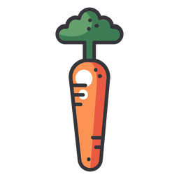 Carrot color flat icon