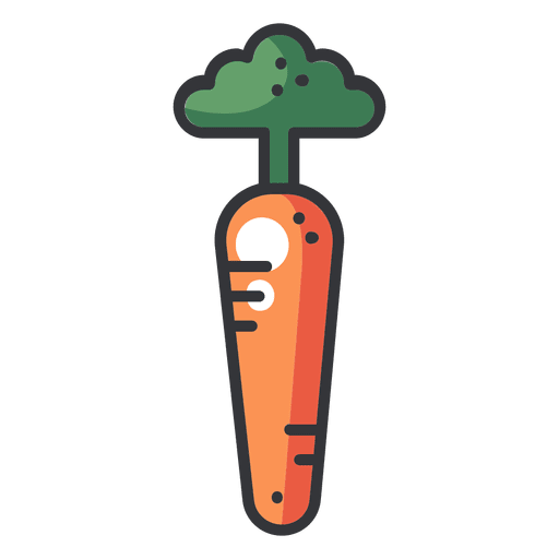 Carrot color flat icon Transparent PNG