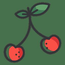 Icono de color cereza