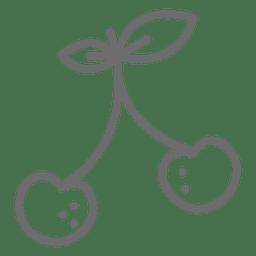 Ícone de traçado de cereja