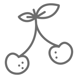 Icono de trazo de cereza