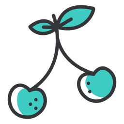 Cherry thick stroke icon