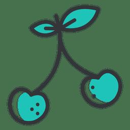 Icono de trazo grueso de cereza