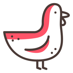 Chicken icon stroke