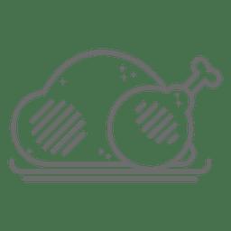 Icono de trazo de pollo