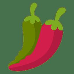 Chile pimentas comida