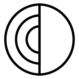 Circle abstract logo disc