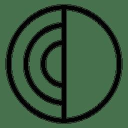 Disco de círculo abstracto logo