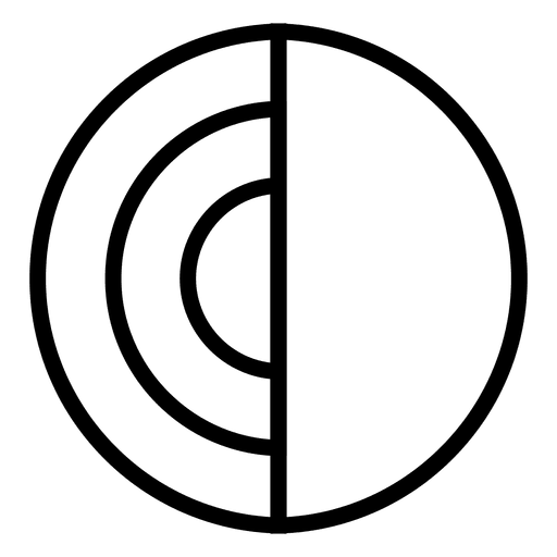 Circle abstract logo disc Transparent PNG