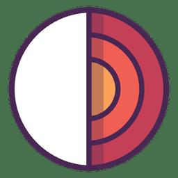 Discos do logotipo do círculo