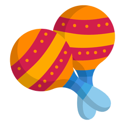 Colorful maracas flat icon