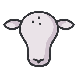 Cow icon flat