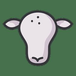 Icono de vaca plana