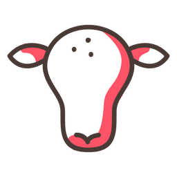 Cow stroke icon