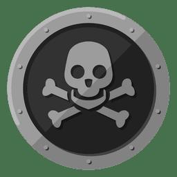 Símbolo de metal de cráneo de muerte