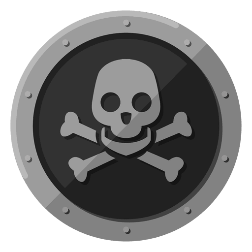 Símbolo de metal de cráneo de muerte Transparent PNG