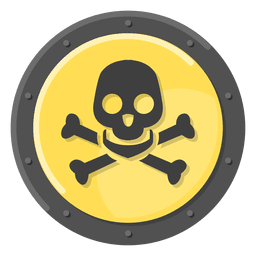 Morte crânio metal símbolo amarelo