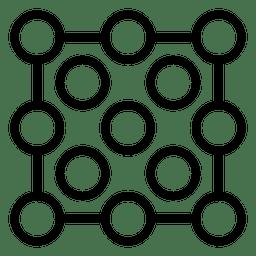 Logo punteado abstracto