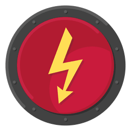 Cor do símbolo de metal elétrico