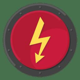 Cor elétrica do símbolo do metal