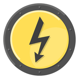 Símbolo de metal eléctrico amarillo