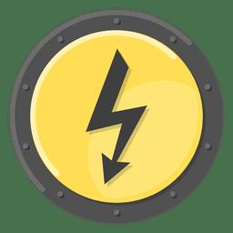 Símbolo de metal elétrico amarelo
