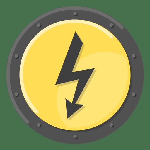 Símbolo de metal elétrico amarelo Transparent PNG
