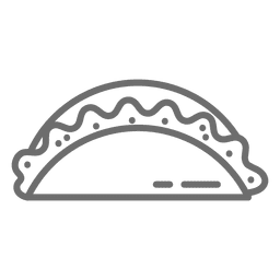 Empanada stroke icon