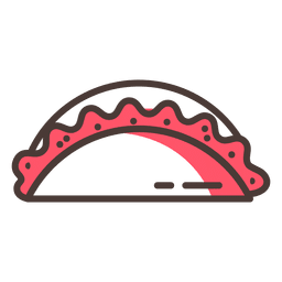 Empanada food stroke icon