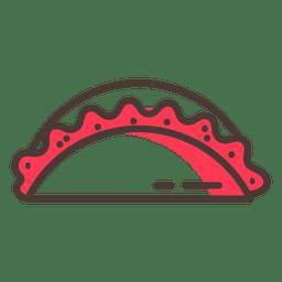 Empanada food stroke icon