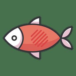 Icono de pescado plano