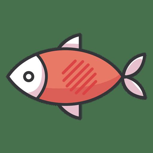 Fischikone flach