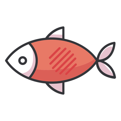Fish icon flat