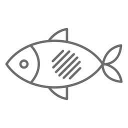 Fish stroke icon