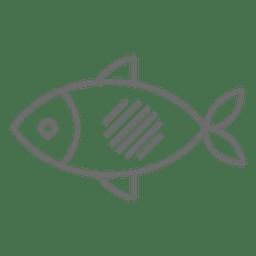 Icono de movimiento de pescado