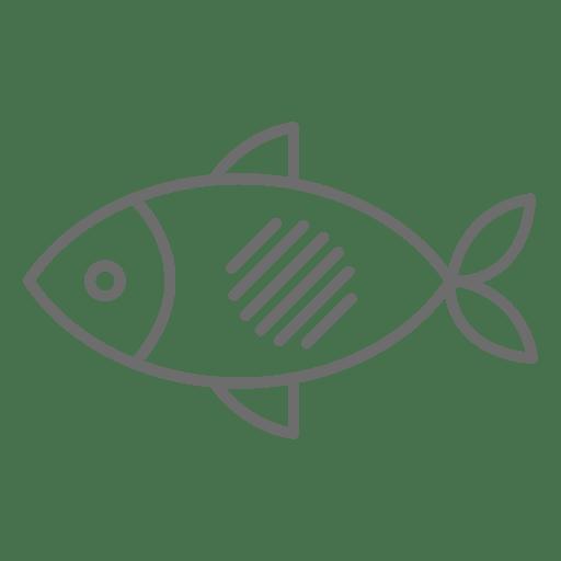Fish stroke icon
