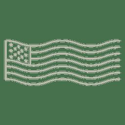 Carimbo de selo de bandeira