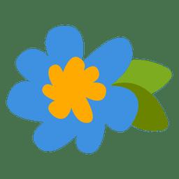 Flat flor ilustração