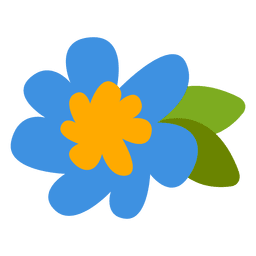 Flat flower illustration