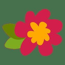 Ilustração plana de flores doodle