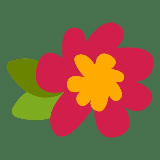 Doodle de ilustración de flor plana