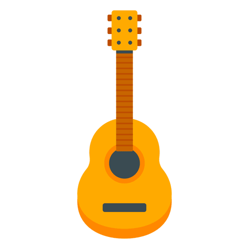 Flat guitar illustration